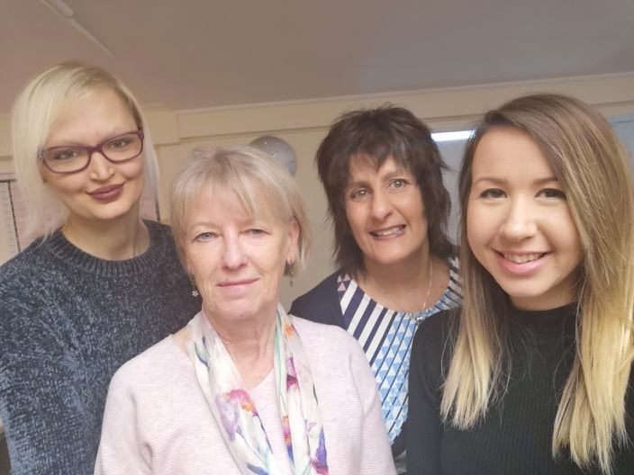 Ectodermal Dysplasia Society Cheltenham team. Left to right: Jaye, Diana, Sue and Danielle.