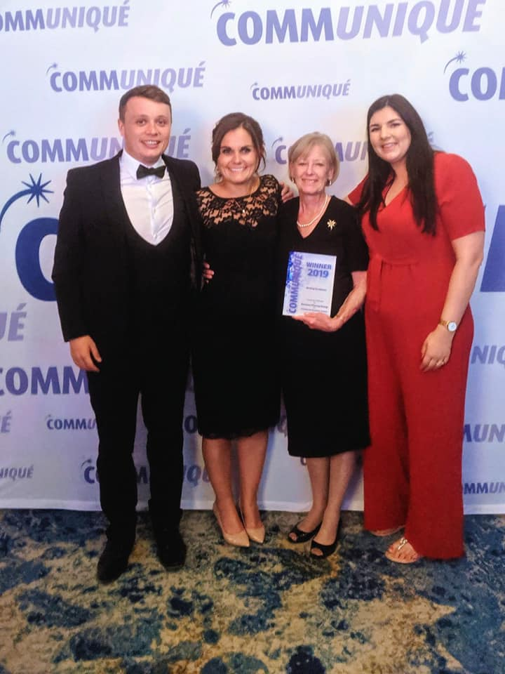 Diana Perry alongside Envision Pharma Group at the Communique Awards